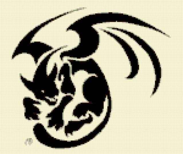 Вышивка Дракон. Боевой Дракон