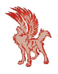 Вышивка Дракон + дополнит вышивка Боевой Волк