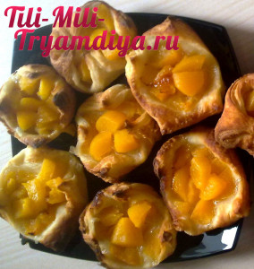 Печенье  персиками