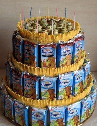 Торт из барни и сока мк