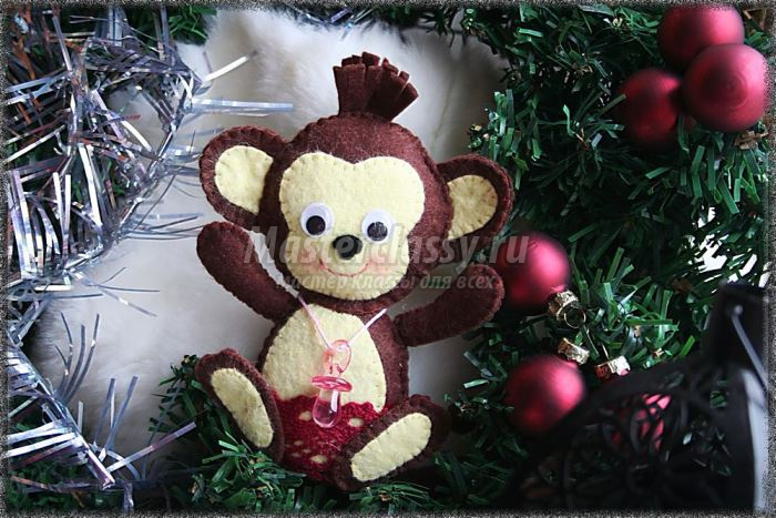 Новогодняя поделка обезьяна 2017 своими руками