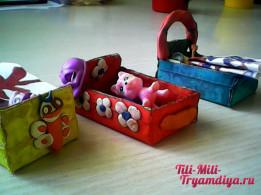 Рисование и лепка с детьми. Кроватка для игрушек.